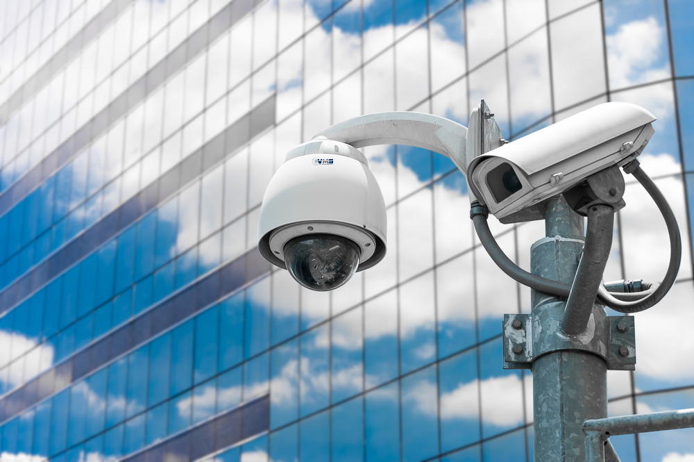 OSA VMS CCTV Dome Camera on high building