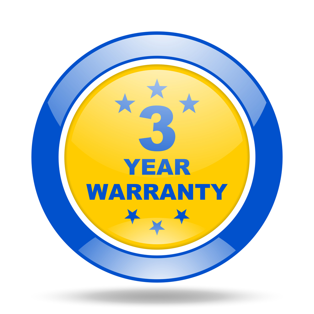 Three year warranty - shutterstock