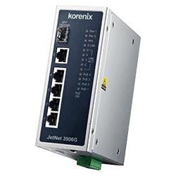 Industrial 6-port Gigabit IEEE802.3af/at PoE Switch JetNet 3906G