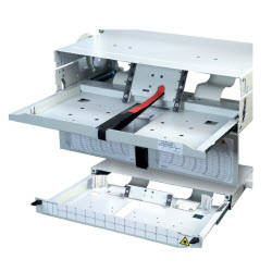 FIST-GPS2 Fiber Panel For Holding Up to 6 GPST Patch/Splice Trays, Unloaded, 3RU, ETSI Width, Gray