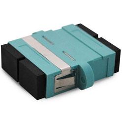 Adaptor MM SC Duplex Aqua OM3
