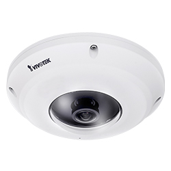 Outdoor Vandal Proof, 5M, 30fps, H.265/H.264/MJPEG, f1.47mm Fisheye Lens