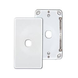 1 Port Wall Plate – White