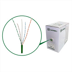Cat6 UTP Copper Cable – 305m Box Green