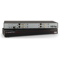 CrystalView EX6 Video-Only, Quad Head KVM Extender, 4xDVI, 1920×1200, CAT5e, 330Ft, 100m