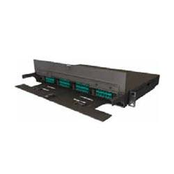 LC Duplex 12F OM3 Adapter Plate – AQUA