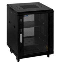 RTx Cabinet – 18RU 600W 600D Glass Front & Perforated Rear Door