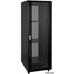 RTx Cabinet – 42RU 600W 600D Glass Front & Perforated Rear Door