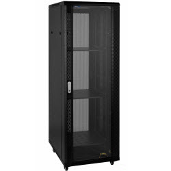 RTx Cabinet – 45RU 600W 1200D Glass Front & Perforated Rear Door