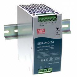 Industrial Slim Series DIN Mounted, 240Watt, 24VDC