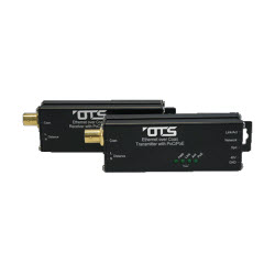 Industrial – Ethernet Over Coax Extender 10/100Mb MicroType with PoE Transmit