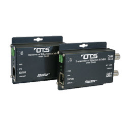 Ethernet Over Coax Extender + CVBS 10/100Mb Receive