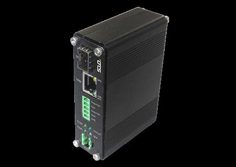 Media Converter – 100Mb DIN Mount, SFP, Contact Closure