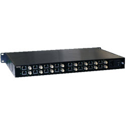 Ethernet Over Coax Extender 16 Port with PoE