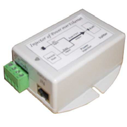 Single Port 9-36VDC Input, 48VDC 16.8 Watt, 802.3af
