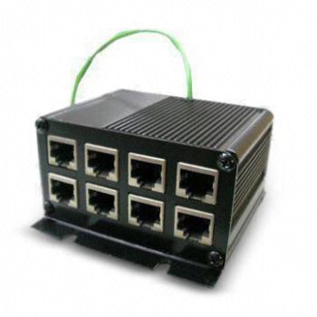 8 Port, 5KA, 70V, Bi-Directional, 10/100/1000 Base TX (Mode A/B),