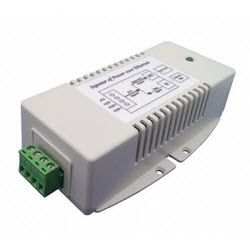 Single Port Gb 8-36VDC Input, 56VDC, 70 Watt (35Watt x 2) Dual PSE