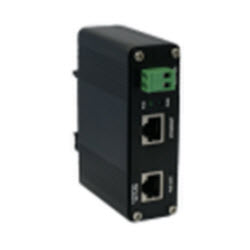 Hardened Gigabit 30 Watt Single-Port PoE Injector, DIN