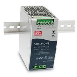 Industrial Slim Series DINMounted , 240Watt, 48VDC