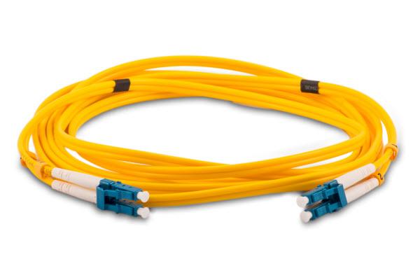 A yellow Fibre optic cable