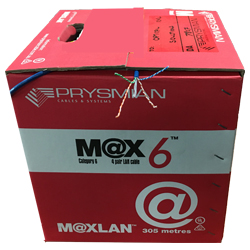 Prysmian Cat 6 305 m boxes of copper cable