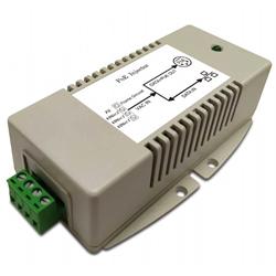 MIT-20G-A2456DBNN AC/DC PoE Injector 24VAC Input, 56VDC 802.3bt 70W PoE Output