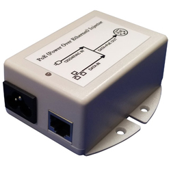 MIT-77N-18BNNN 18V PoE Injector with 18V/1A Output and Surge Protection