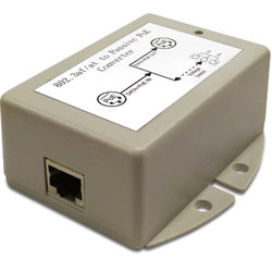 12W DC/DC PoE Converter with 48V DC PoE Input and 12/24V Switchable Output Voltages