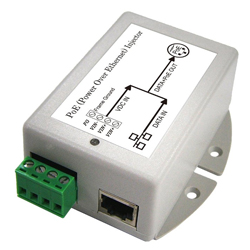 DC/DC PoE Injector with 10-36V DC Input Voltage and 24V/0.8A Maximum Load