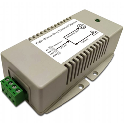 Gigabit High Power PoE Injector with 24V DC Input and 56V/625mA 802.3at Output, -40C~+70C