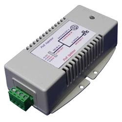 Gigabit Bi-direction Passive PoE Injector/Splitter with 2.5A output on 4 pairs (1245+,3678-)