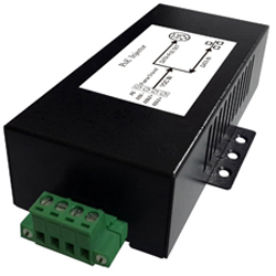 DC/DC Gigabit PoE Injector with 10-36V DC Input Voltage and 0.625A Maximum Load