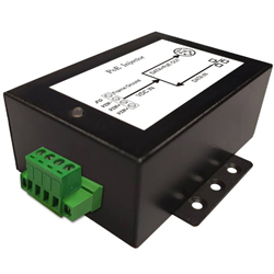 DC/DC Gigabit PoE Injector with 10-36V DC Input Voltage and 0.35A Maximum Load