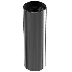 Aluminum Coupler, 0.75″   20mm, Reverse-threaded, Black