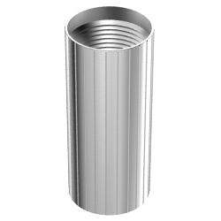 Aluminum Coupler, 1.00″   25mm, Reverse-threaded, Black