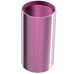 Aluminum Coupler, 1.25″   32mm, Reverse-threaded, Burgundy