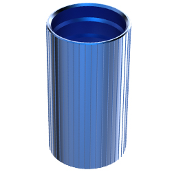 Aluminum Coupler, 1.50″   40mm, Barbed, Blue