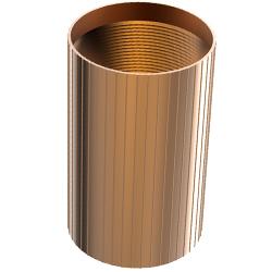 Aluminum Coupler, 2.00″ | 50mm, Reverse-threaded, Bronze